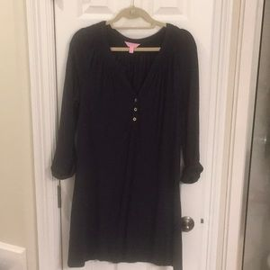 Large navy Lilly Pulitzer long sleeve Essie dress